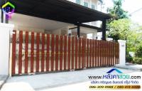 004.jpg - ประตูรั้วสแตนเลส ผสมอลูมิเนียมลายไม้ | https://thai304.com