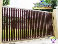 010.jpg - ประตูรั้วสแตนเลส ผสมอลูมิเนียมลายไม้ | https://thai304.com