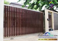 011.jpg - ประตูรั้วสแตนเลส ผสมอลูมิเนียมลายไม้ | https://thai304.com