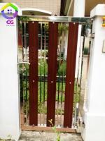 015.jpg - ประตูรั้วสแตนเลส ผสมอลูมิเนียมลายไม้ | https://thai304.com