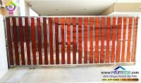 022.jpg - ประตูรั้วสแตนเลส ผสมอลูมิเนียมลายไม้ | https://thai304.com