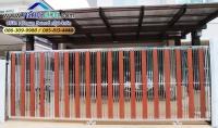 031.jpg - ประตูรั้วสแตนเลส ผสมอลูมิเนียมลายไม้ | https://thai304.com