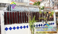 033.jpg - ประตูรั้วสแตนเลส ผสมอลูมิเนียมลายไม้ | https://thai304.com