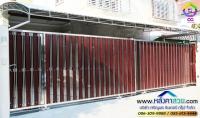 036.jpg - ประตูรั้วสแตนเลส ผสมอลูมิเนียมลายไม้ | https://thai304.com