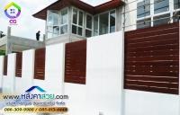 038.jpg - ประตูรั้วสแตนเลส ผสมอลูมิเนียมลายไม้ | https://thai304.com