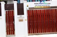 045.jpg - ประตูรั้วสแตนเลส ผสมอลูมิเนียมลายไม้ | https://thai304.com