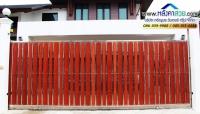 047.jpg - ประตูรั้วสแตนเลส ผสมอลูมิเนียมลายไม้ | https://thai304.com
