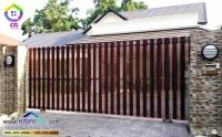 050.jpg - ประตูรั้วสแตนเลส ผสมอลูมิเนียมลายไม้ | https://thai304.com