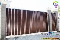 054.jpg - ประตูรั้วสแตนเลส ผสมอลูมิเนียมลายไม้ | https://thai304.com