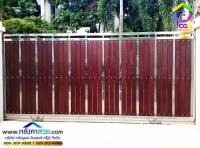 057.jpg - ประตูรั้วสแตนเลส ผสมอลูมิเนียมลายไม้ | https://thai304.com