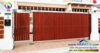 058.jpg - ประตูรั้วสแตนเลส ผสมอลูมิเนียมลายไม้ | https://thai304.com