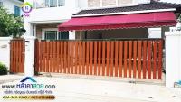 061.jpg - ประตูรั้วสแตนเลส ผสมอลูมิเนียมลายไม้ | https://thai304.com