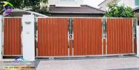 066.jpg - ประตูรั้วสแตนเลส ผสมอลูมิเนียมลายไม้ | https://thai304.com