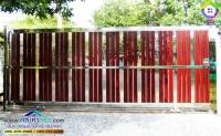 069.jpg - ประตูรั้วสแตนเลส ผสมอลูมิเนียมลายไม้ | https://thai304.com