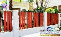 075.jpg - ประตูรั้วสแตนเลส ผสมอลูมิเนียมลายไม้ | https://thai304.com