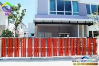 076.jpg - ประตูรั้วสแตนเลส ผสมอลูมิเนียมลายไม้ | https://thai304.com