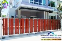 077.jpg - ประตูรั้วสแตนเลส ผสมอลูมิเนียมลายไม้ | https://thai304.com