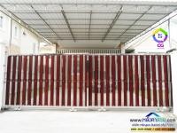 079.jpg - ประตูรั้วสแตนเลส ผสมอลูมิเนียมลายไม้ | https://thai304.com