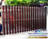 083.jpg - ประตูรั้วสแตนเลส ผสมอลูมิเนียมลายไม้ | https://thai304.com