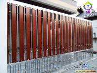 086.jpg - ประตูรั้วสแตนเลส ผสมอลูมิเนียมลายไม้ | https://thai304.com