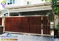 087.jpg - ประตูรั้วสแตนเลส ผสมอลูมิเนียมลายไม้ | https://thai304.com