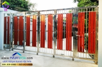 095.jpg - ประตูรั้วสแตนเลส ผสมอลูมิเนียมลายไม้ | https://thai304.com
