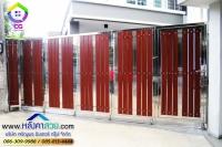 098.jpg - ประตูรั้วสแตนเลส ผสมอลูมิเนียมลายไม้ | https://thai304.com