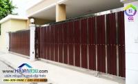 107.jpg - ประตูรั้วสแตนเลส ผสมอลูมิเนียมลายไม้ | https://thai304.com