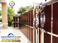 109.jpg - ประตูรั้วสแตนเลส ผสมอลูมิเนียมลายไม้ | https://thai304.com