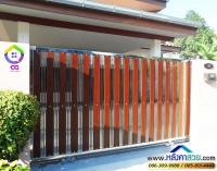 113.jpg - ประตูรั้วสแตนเลส ผสมอลูมิเนียมลายไม้ | https://thai304.com