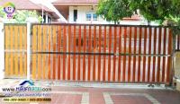115.jpg - ประตูรั้วสแตนเลส ผสมอลูมิเนียมลายไม้ | https://thai304.com