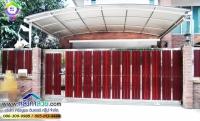 121.jpg - ประตูรั้วสแตนเลส ผสมอลูมิเนียมลายไม้ | https://thai304.com