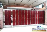 122.jpg - ประตูรั้วสแตนเลส ผสมอลูมิเนียมลายไม้ | https://thai304.com