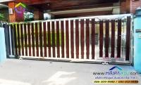 124.jpg - ประตูรั้วสแตนเลส ผสมอลูมิเนียมลายไม้ | https://thai304.com